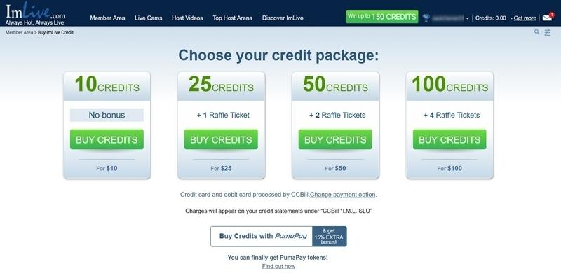 ImLive Credit Packages