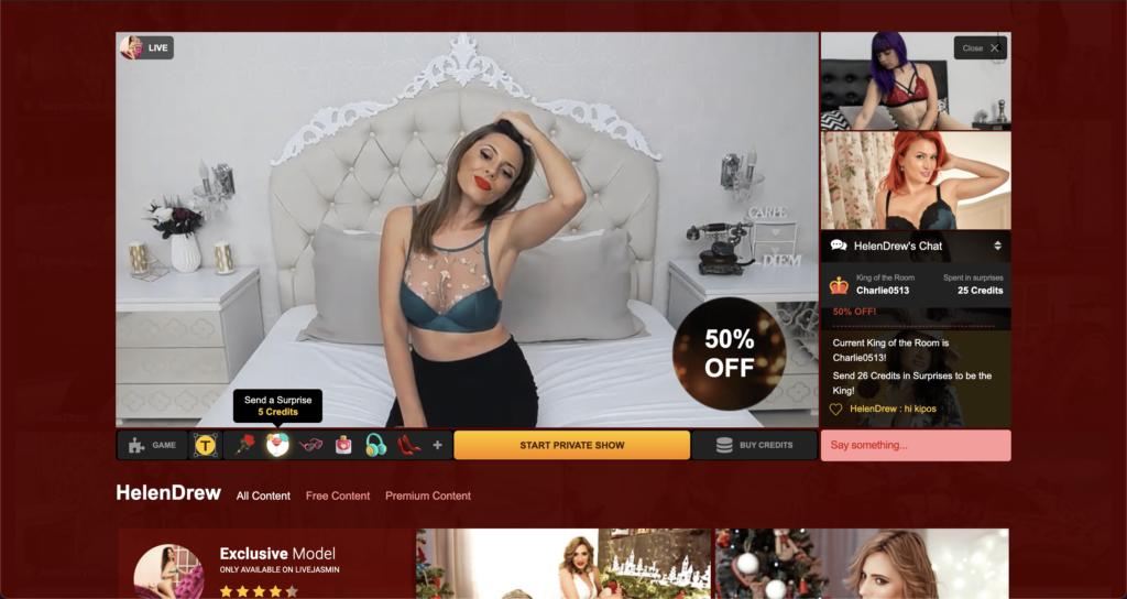LiveJasmin Live Chat Room